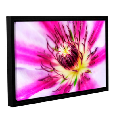 Brushstone Pink Petals Gallery Wrapped Floater-Framed Canvas Wall Art