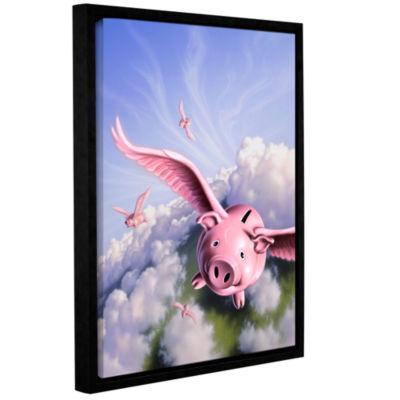 Brushstone Piggies Gallery Wrapped Floater-FramedCanvas Wall Art