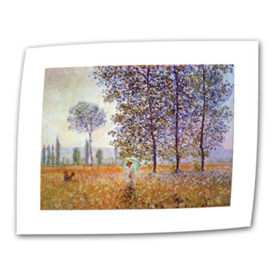 Brushstone Poplars Canvas Wall Art