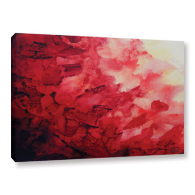 Brushstone Red Watery Abstract Gallery Wrapped Canvas Wall Art