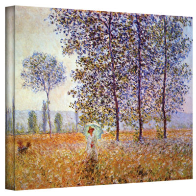 Brushstone Poplars Gallery Wrapped Canvas Wall Art
