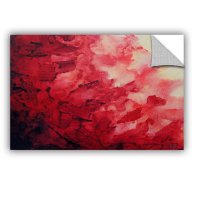 Brushstone Red Watery Abstract Removable Wall Decal