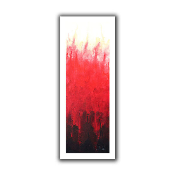 Brushstone Red Watery Canvas Wall Art