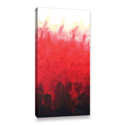 Brushstone Red Watery Gallery Wrapped Canvas WallArt