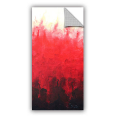 Brushstone Red Watery Removable Wall Decal
