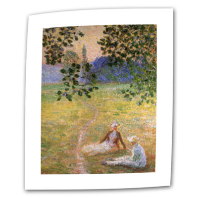 Brushstone Poplars At Giverny At Sunrise Canvas Wall Art