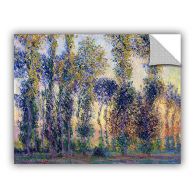 Brushstone Poplars At Giverny At Sunrise RemovableWall Decal