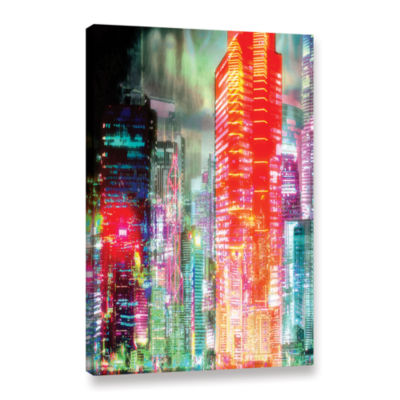Brushstone Red Glow Gallery Wrapped Canvas Wall Art