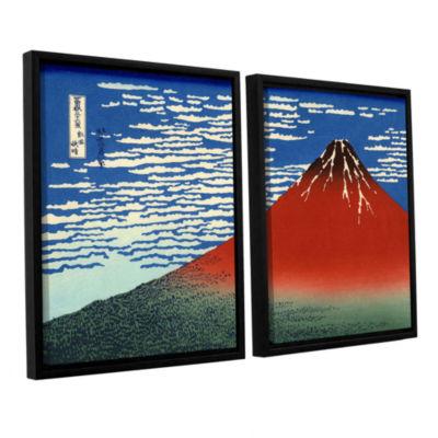 Brushstone Red Fuji 2-pc. Floater Framed Canvas Wall Art