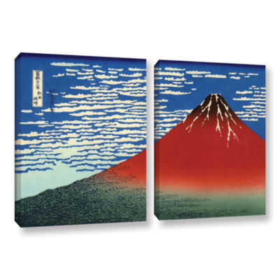 Brushstone Red Fuji 2-pc. Gallery Wrapped Canvas Wall Art