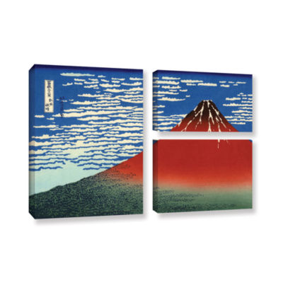 Brushstone Red Fuji 3-pc. Flag Gallery Wrapped Canvas Wall Art