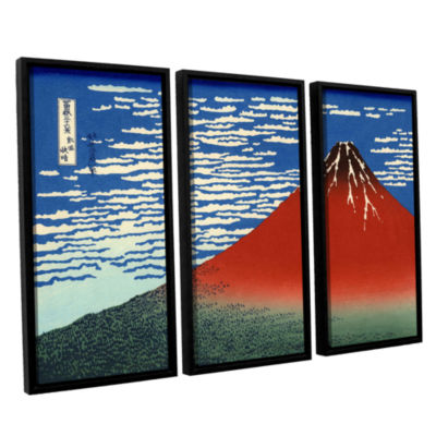 Brushstone Red Fuji 3-pc. Floater Framed Canvas Wall Art