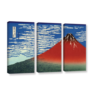 Brushstone Red Fuji 3-pc. Gallery Wrapped Canvas Wall Art