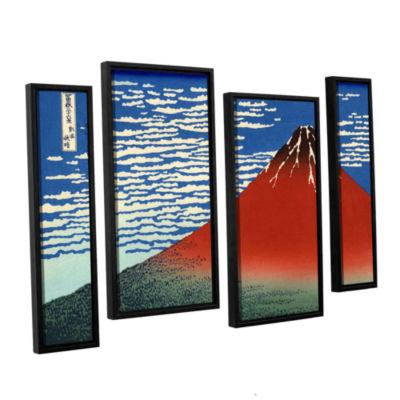 Brushstone Red Fuji 4-pc. Floater Framed StaggeredCanvas Wall Art
