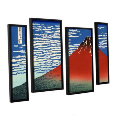 Brushstone Red Fuji 4-pc. Gallery Wrapped Staggered Canvas Wall Art