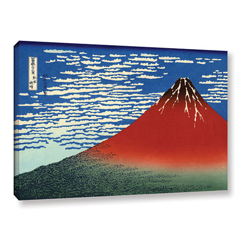 Brushstone Red Fuji Gallery Wrapped Canvas Wall Art