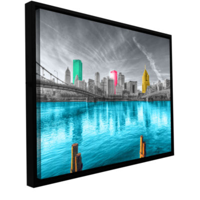 Brushstone Pittsburgh Gallery Wrapped Floater-Framed Canvas Wall Art