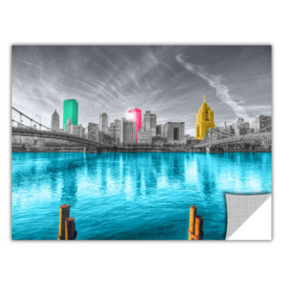 Brushstone Pittsburgh Removable Wall Decal