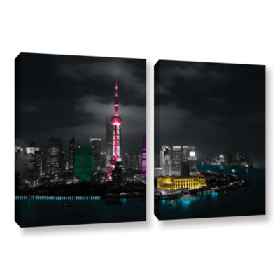 Brushstone Pudong 2-pc. Gallery Wrapped Canvas Wall Art