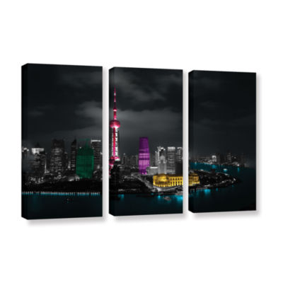 Brushstone Pudong 3-pc. Gallery Wrapped Canvas Wall Art