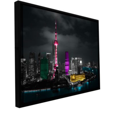 Brushstone Pudong Gallery Wrapped Floater-Framed Canvas Wall Art