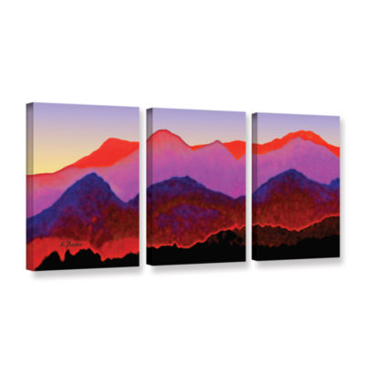 Brushstone Pyrenees In Autumn 3-pc. Gallery Wrapped Canvas Wall Art