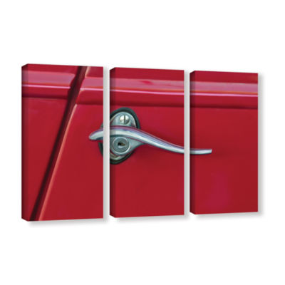 Brushstone Red Door 3-pc. Gallery Wrapped Canvas Wall Art