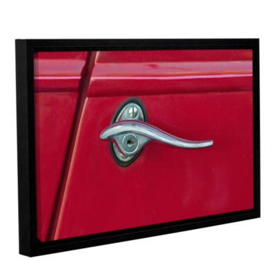 Brushstone Red Door Gallery Wrapped Floater-FramedCanvas Wall Art