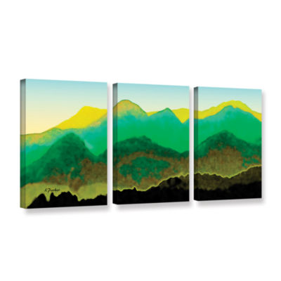 Brushstone Pyrenees In Spring 3-pc. Gallery Wrapped Canvas Wall Art