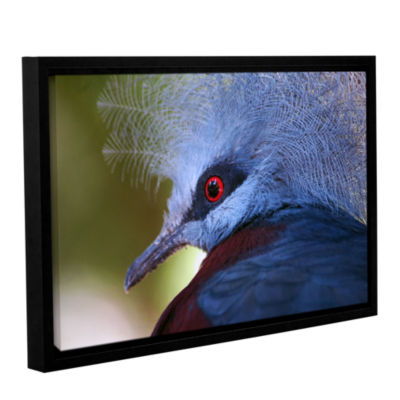 Brushstone Red Eye Gallery Wrapped Floater-FramedCanvas Wall Art