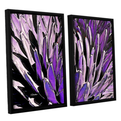 Brushstone Queen Victoria Agave 2-pc. Floater Framed Canvas Wall Art