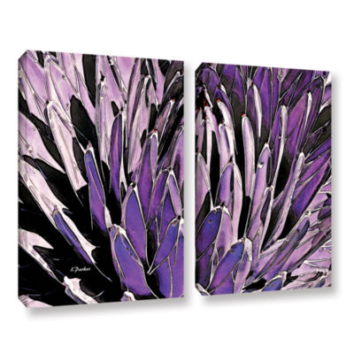Brushstone Queen Victoria Agave 2-pc. Gallery Wrapped Canvas Wall Art