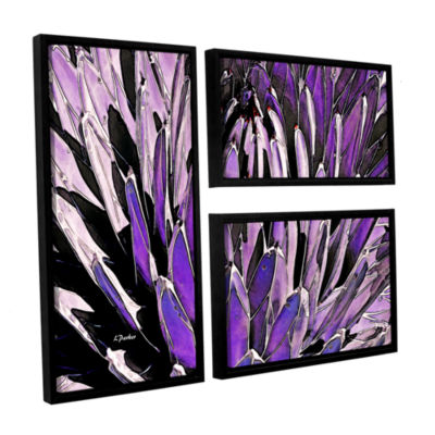 Brushstone Queen Victoria Agave 3-pc. Flag FloaterFramed Canvas Wall Art