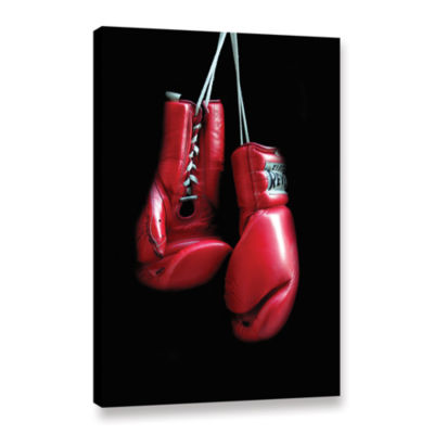 Brushstone Red Gloves Gallery Wrapped Canvas WallArt