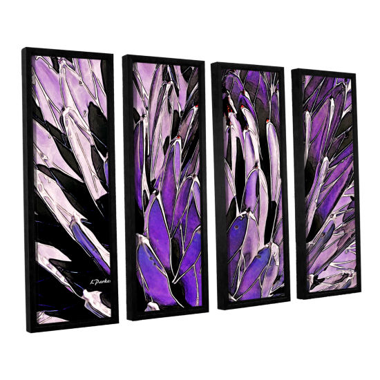 Brushstone Queen Victoria Agave 4-pc. Floater Framed Canvas Wall Art