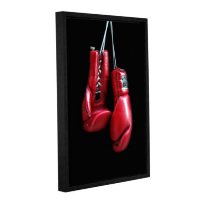 Brushstone Red Gloves Gallery Wrapped Floater-Framed Canvas Wall Art