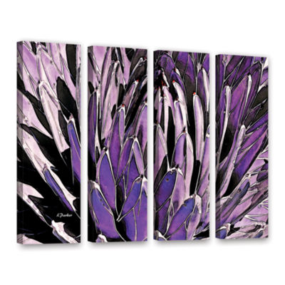 Brushstone Queen Victoria Agave 4-pc. Gallery Wrapped Canvas Wall Art