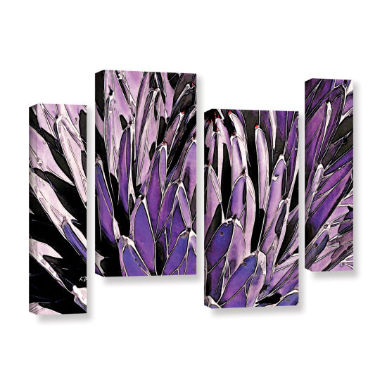 Brushstone Queen Victoria Agave 4-pc. Gallery Wrapped Staggered Canvas Wall Art