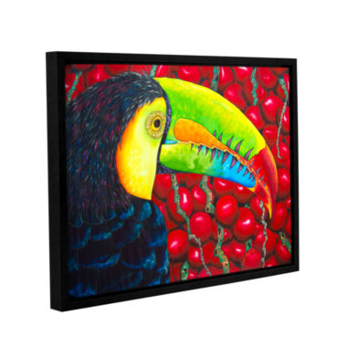 Brushstone Rainbow Toucan Gallery Wrapped Floater-Framed Canvas Wall Art