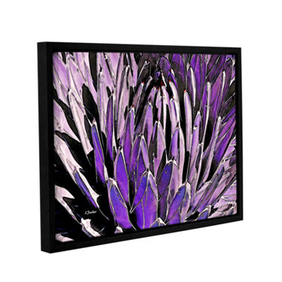 Brushstone Queen Victoria Agave Gallery Wrapped Floater-Framed Canvas Wall Art