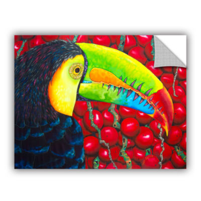 Brushstone Rainbow Toucan Removable Wall Decal