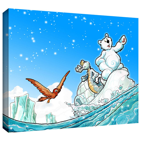 Brushstone Polar 1 Gallery Wrapped Canvas Wall Art