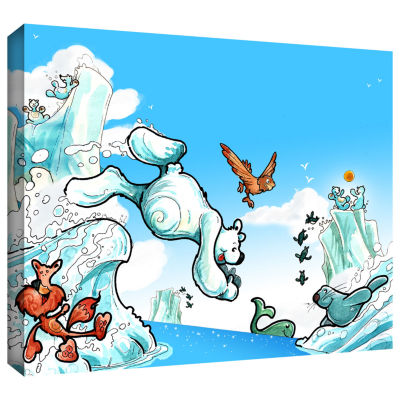 Brushstone Polar 2 Gallery Wrapped Canvas Wall Art