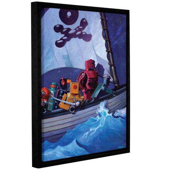 Brushstone Robpirates Gallery Wrapped Floater-Framed Canvas Wall Art