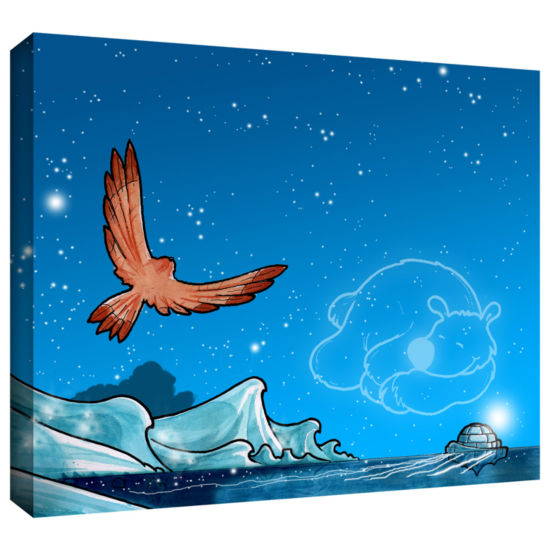 Brushstone Polar 3 Gallery Wrapped Canvas Wall Art