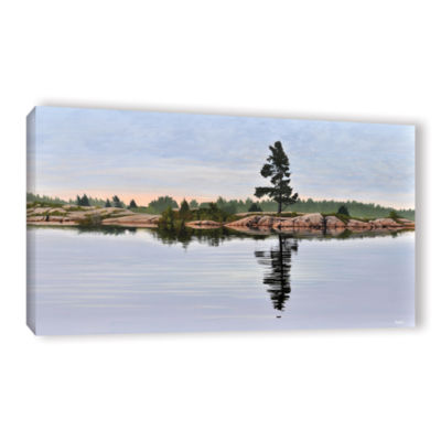 Brushstone Reflection On The Bay Gallery Wrapped Canvas Wall Art