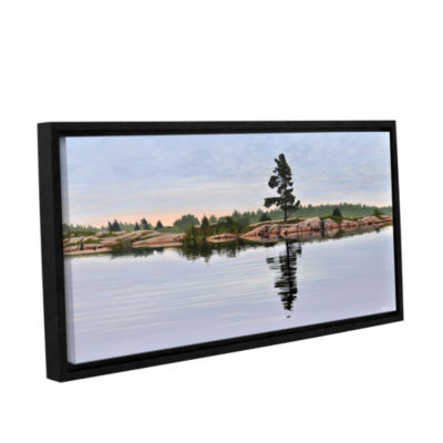 Brushstone Reflection On The Bay Gallery Wrapped Floater-Framed Canvas Wall Art
