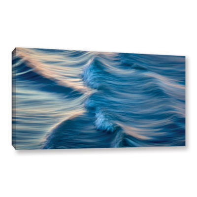 Brushstone Rolling Waves Gallery Wrapped Canvas Wall Art