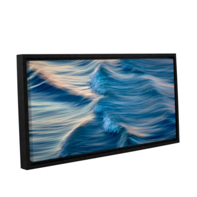 Brushstone Rolling Waves Gallery Wrapped Floater-Framed Canvas Wall Art