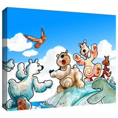 Brushstone Polar 6 Gallery Wrapped Canvas Wall Art